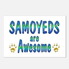 Samoyeds are Awesome Postcards (Package of 8)