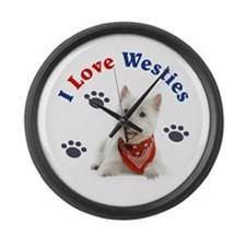 I Love Westies 111 Large Wall Clock
