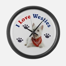 I Love Westies 111 Large Wall Clock