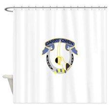 7th Cavalry Regiment-Color.png Shower Curtain