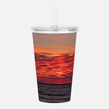 Fire Sunset Lk Superior Acrylic Double-wall Tumble