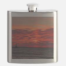 Fire Sunset Lk Superior Flask
