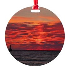 Fire Sunset Lk Superior Ornament