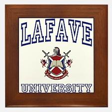 LAFAVE University Framed Tile