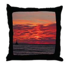 Fire Sunset Lk Superior Throw Pillow