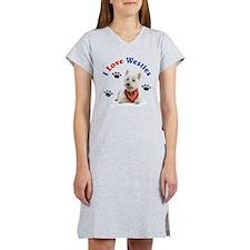 I Love Westies 111 Women's Nightshirt