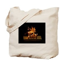 Fire Reflections Tote Bag