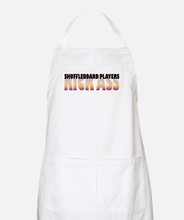 Shuffleboard Players Kick Ass BBQ Apron