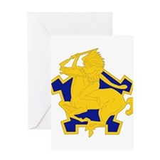 9th Cavalry Regiment.psd Greeting Cards