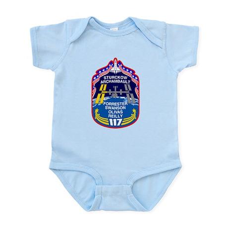Shuttle Mission 117 Patch Infant Bodysuit
