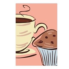 Coffee and Muffin Postcards (Package of 8)