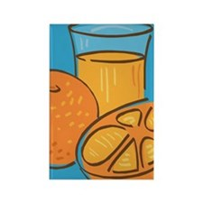 Orange Juice Rectangle Magnet