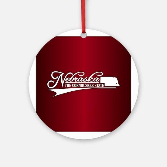 Nebraska State of Mine Ornament (Round)