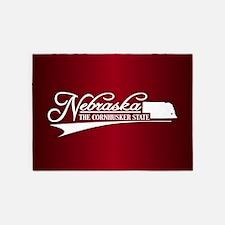 Nebraska State of Mine 5'x7'Area Rug