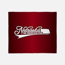 Nebraska State of Mine Throw Blanket