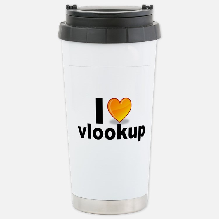 Cute Vlookups Travel Mug