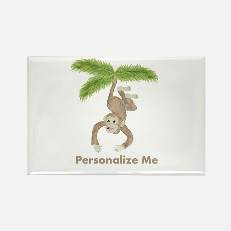 Personalized Monkey Rectangle Magnet