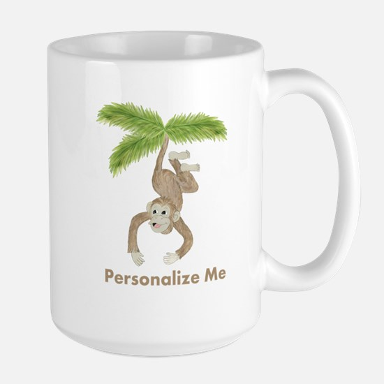 Personalized Monkey Large Mug