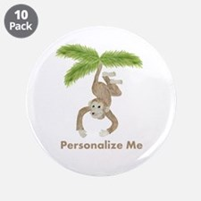 """Personalized Monkey 3.5"""" Button (10 pack)"""