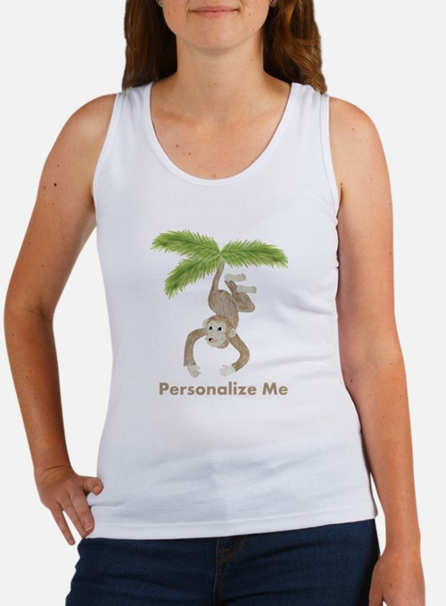 Personalized Monkey Women's Tank Top
