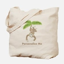 Personalized Monkey Tote Bag