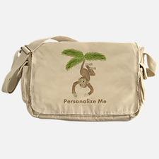 Personalized Monkey Messenger Bag