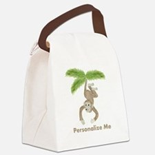 Personalized Monkey Canvas Lunch Bag