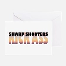 Sharp Shooters Kick Ass Greeting Cards (Package of