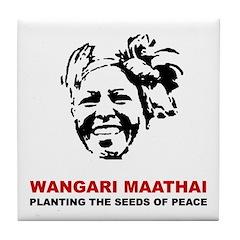 Wangari Maathai Tile Coaster
