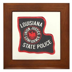 Louisiana State Police Framed Tile