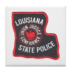 Louisiana State Police Tile Coaster