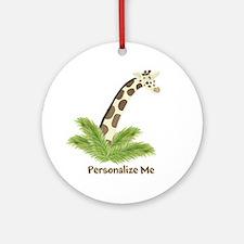 Personalized Giraffe Ornament (Round)