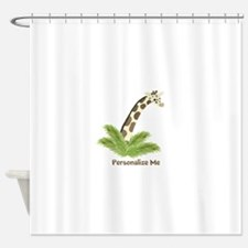 Personalized Giraffe Shower Curtain