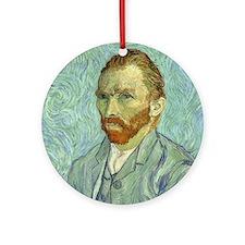 Vincent Van Gogh Self Portrait Ornament (Round)