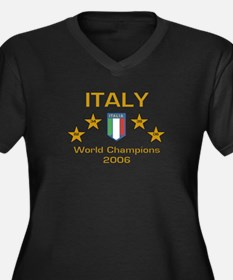 Italy World Champions Women's Plus Size V-Neck Dar