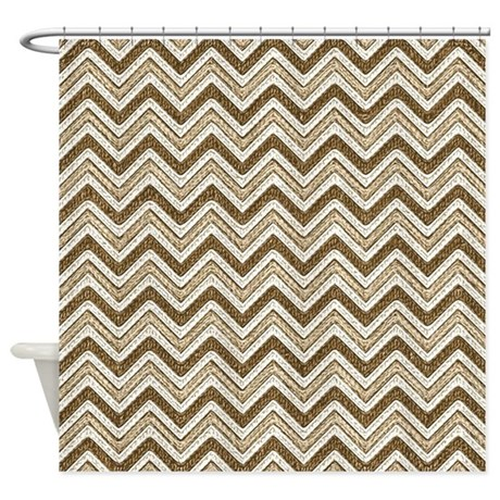 Earth Tone Chevron Shower Curtain By 64ColorLiving