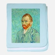 Vincent Van Gogh Self Portrait baby blanket