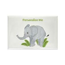 Personalized Elephant Rectangle Magnet