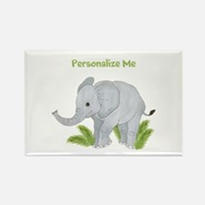 Personalized Elephant Rectangle Magnet