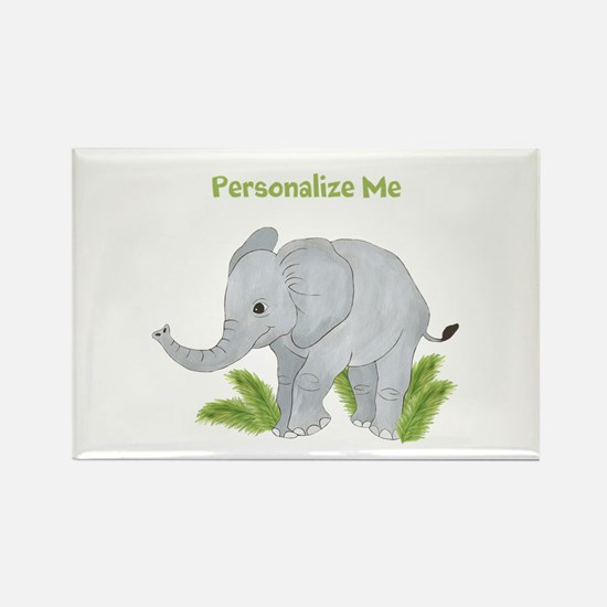 Personalized Elephant Rectangle Magnet (10 pack)