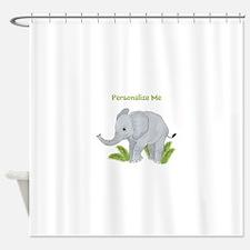 Personalized Elephant Shower Curtain