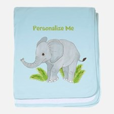 Personalized Elephant baby blanket