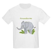 Personalized Elephant Kids Light T-Shirt