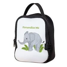 Personalized Elephant Neoprene Lunch Bag