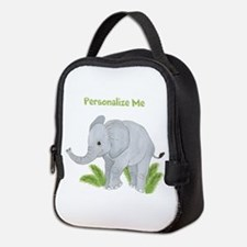 Personalized Elephant Neoprene Lunch Bag