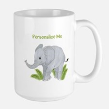 Personalized Elephant Large Mug