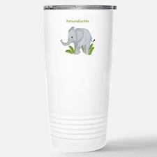 Personalized Elephant Stainless Steel Travel Mug