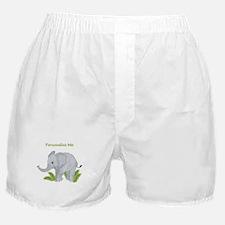 Personalized Elephant Boxer Shorts
