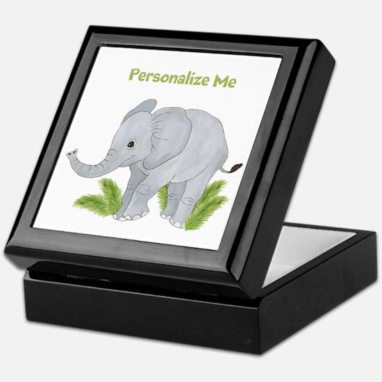 Personalized Elephant Keepsake Box