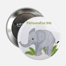 """Personalized Elephant 2.25"""" Button (10 pack)"""